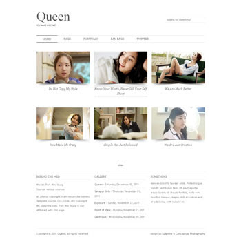 Queen blogger template. download photography blogger template