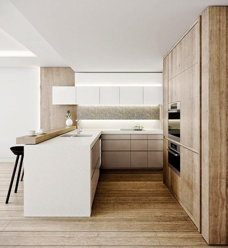 biała, drewniana kuchnia