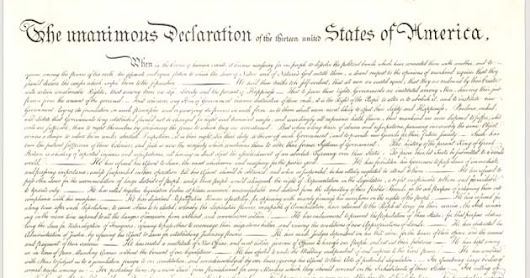 Our Troublesome Foundation - the Declaration of Independence