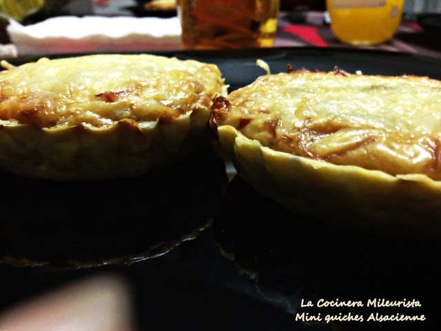Mini quiches Alsacienne-quiche Lorraine