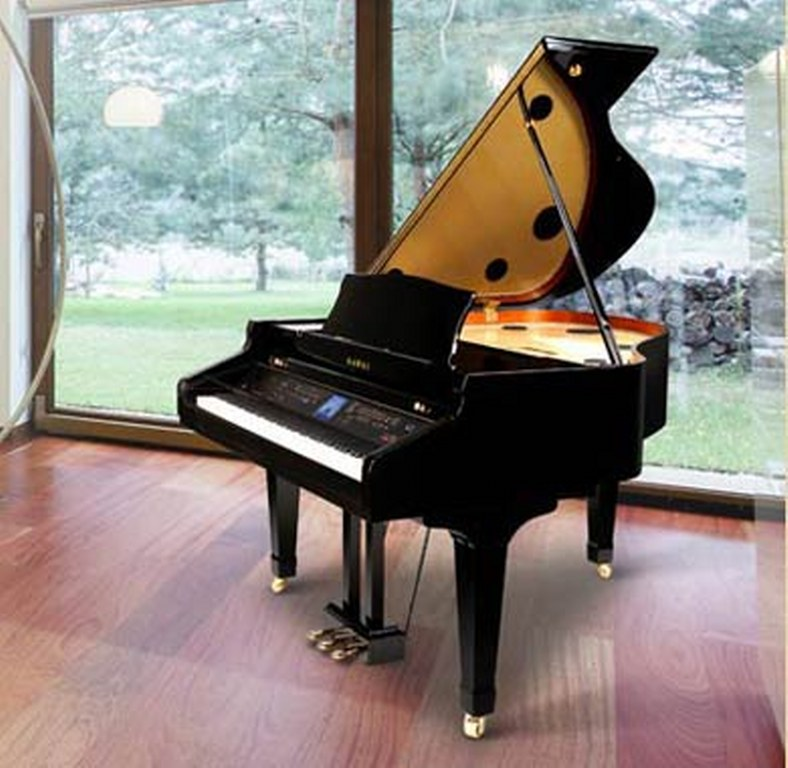 Az piano reviews review report digital grand pianos for Size baby grand piano