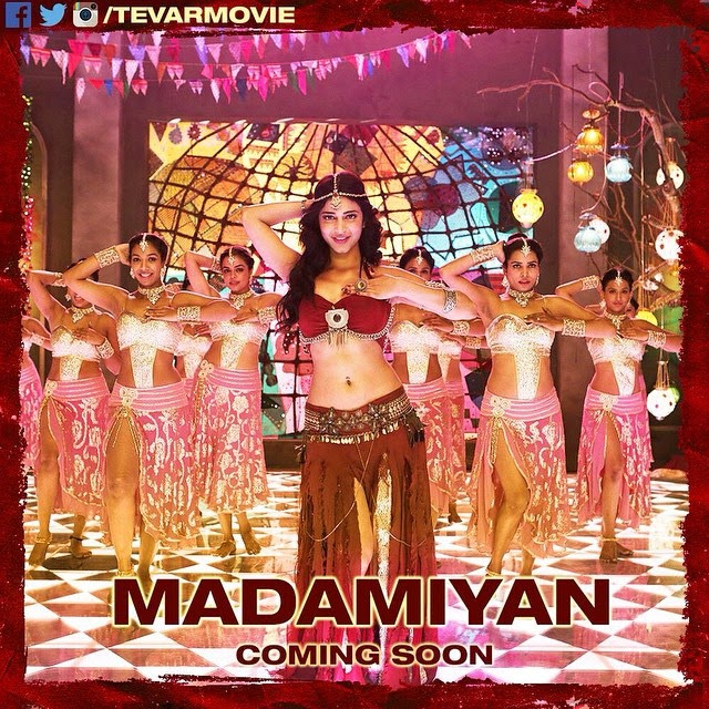 sooo excited🙈, Madamiyan Shruti Hassan Hot pics from Tevar Movie Song Madamiyan