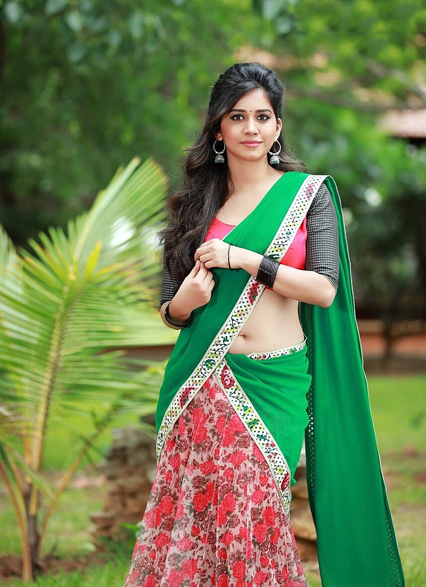 Hot Nabha Natesh Navel Photos In Ghagra Choli Hot Blog
