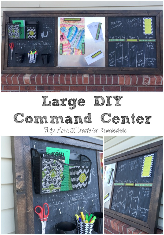 MyLove2Create for Remodelaholic, Large DIY Metal Pegboard Command Center