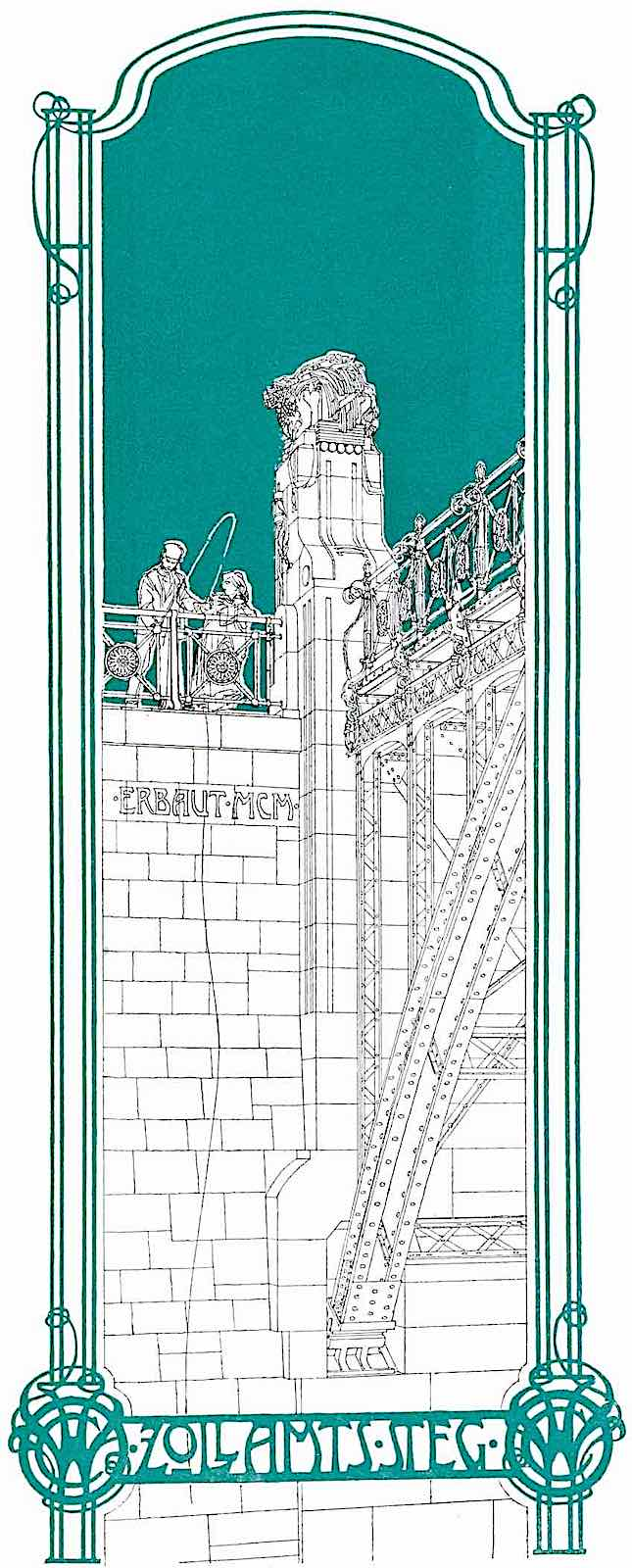 Zollamts Steg 1900 in color