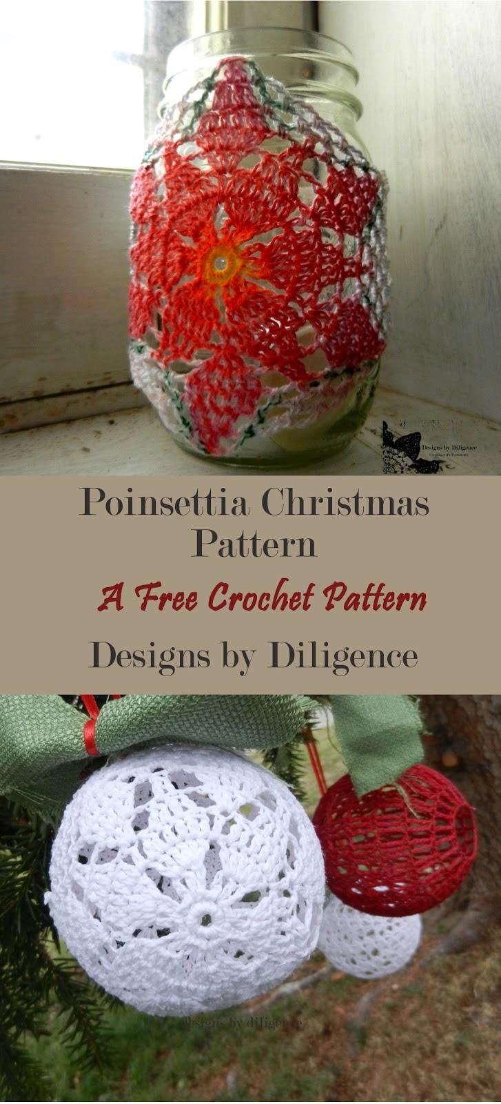 Designs By Diligence Poinsettia Jar Cozy