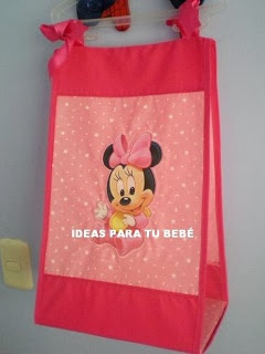pañalera minnie estampada