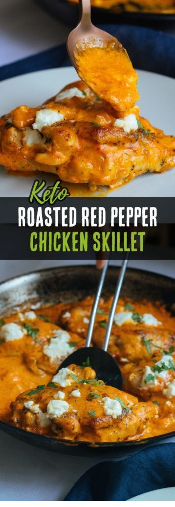 Roasted Red Pepper Chicken Thighs
