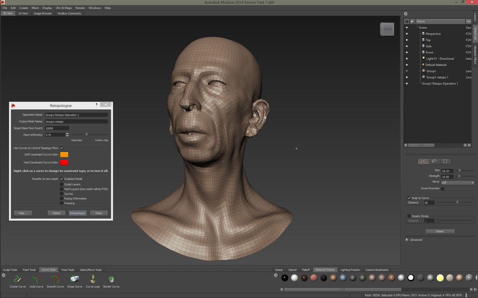 Polysculpture Automatic Topology Mudbox Vs Zbrush