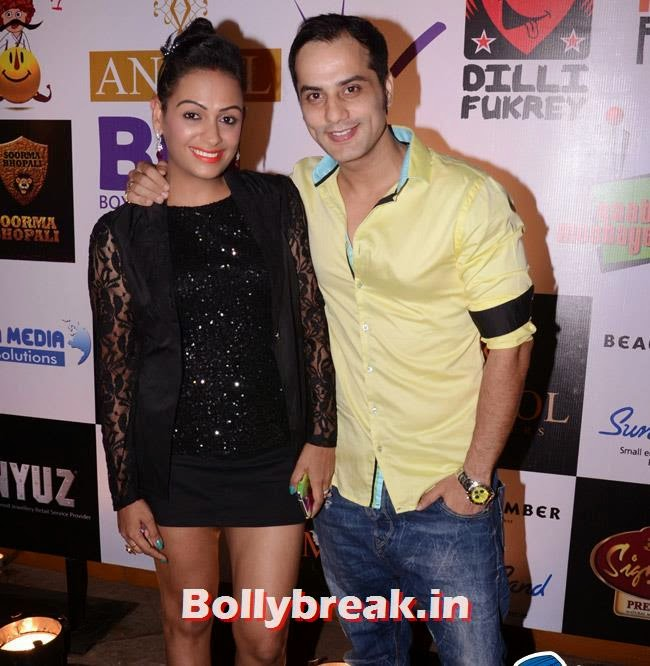 Ashita Dhawan with Shailesh Gulabani, Box Cricket League Success Party - Tv Babes as Guests