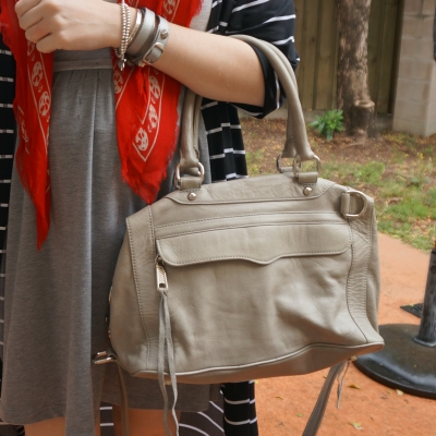 Away From Blue | Rebecca Minkoff MAB mini in soft grey