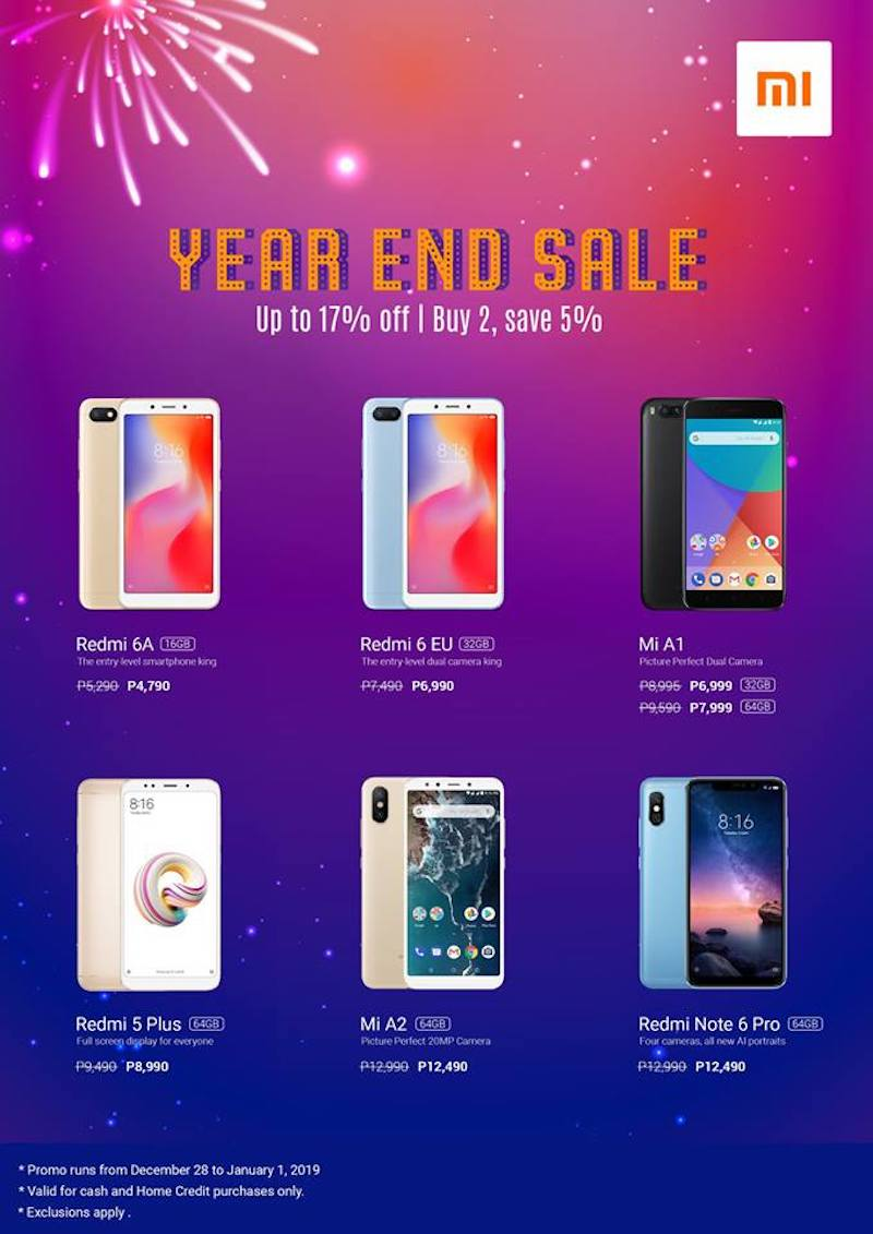 Sale Alert: Xiaomi holds its Year-End Sale 2018 in the Philippines!