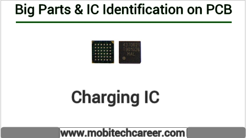 charging ic identification on mobile cell phone smartphone pcb circuit  board motherboad | charging ic ki