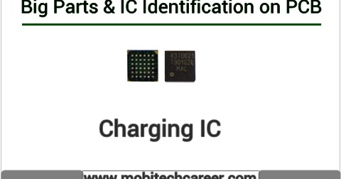 Charging IC - Identify on Mobile Phone PCB Circuit Board