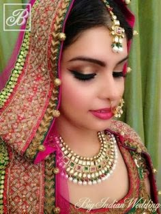 Best Bridal Makeup 2018 : Indian Bridal Makeup 2017/2018 wedding Hair Styles ...