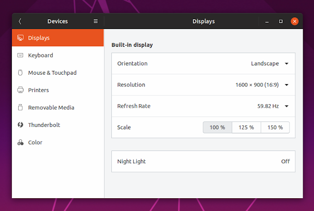 Fractional scaling Ubuntu 19.04 Disco Dingo