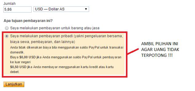 Agar Paypal tidak terpotong