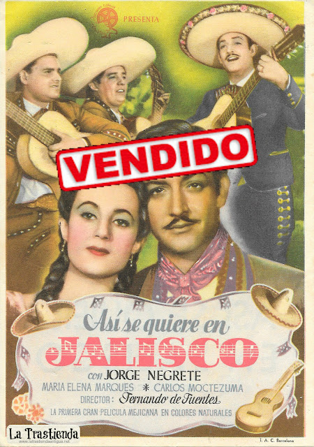 Así se Quiere en Jalisco - Programa de Cine - Jorge Negrete - Maria Elena Marqués