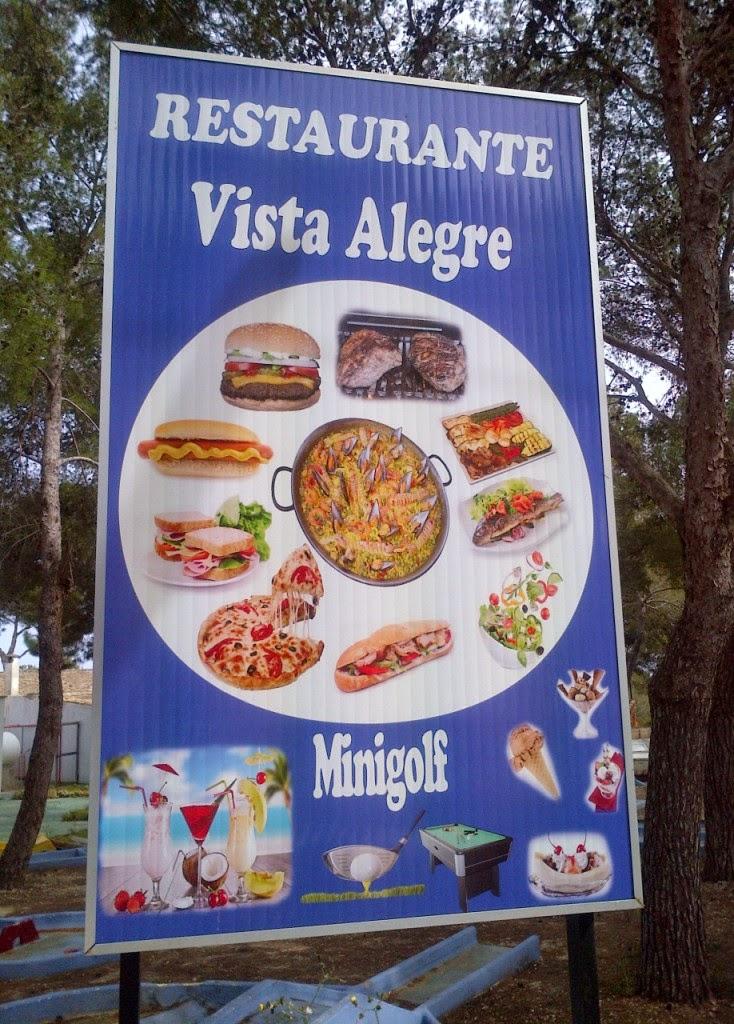 Restaurante Vista Alegre in Porto Cristo, Majorca has a minigolf course