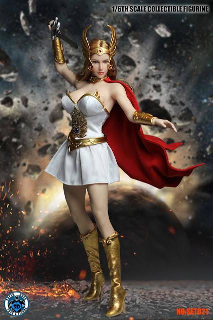 osw.zone Super Duck 1/6 scale Female Princes Head Sculpt + Costume Set: She-Ra Princess of Power