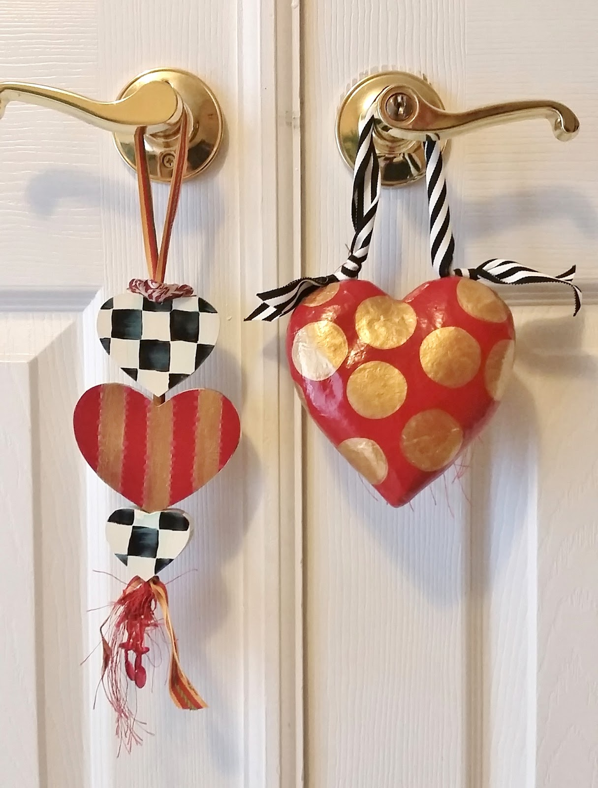 hand painted valentine ornament set