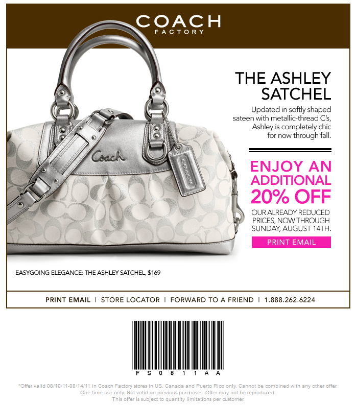 coupons for coach purses