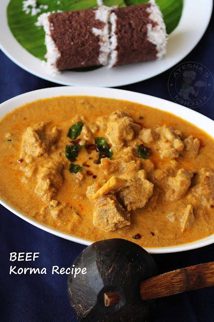 beef kuruma with pathiri malabar vibavangal pothu kuruma