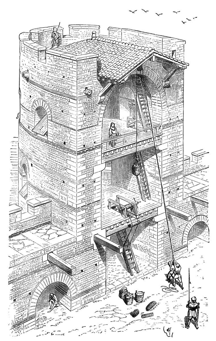 08-Flanking-Tower-Eugène-Viollet-le-Duc-Gothic-Drawings-from-an-Architect-in-18th-Century-www-designstack-co