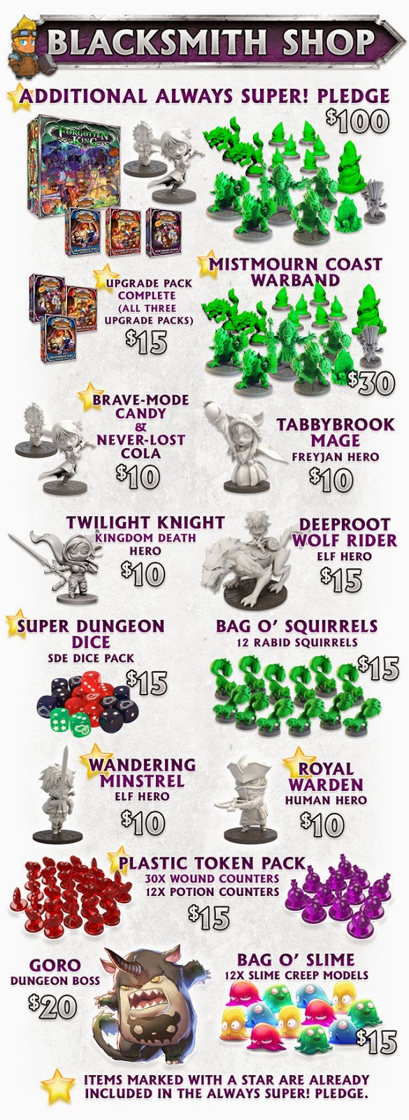 sde-super dungeon explorer forgotten king-kickstarter-