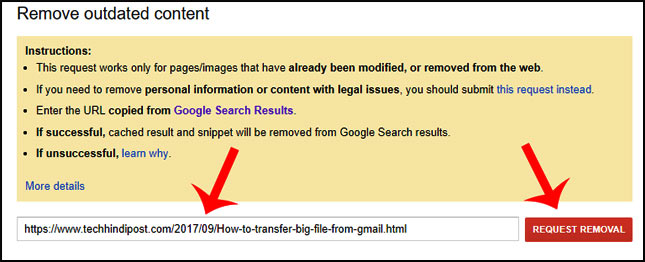 google search console se URLs kaise remove kare
