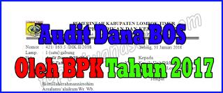 Surat Audit Dana BOS Oleh BPK Tahun 2017