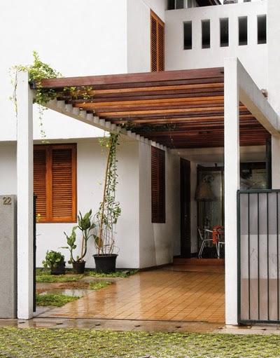 Contoh Model Kanopi Kayu Rumah Minimalis Terbaru 2014