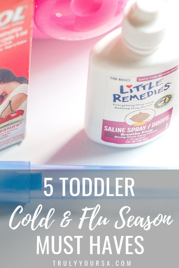 It's the start of a new year and that also means it's peak cold and flu season. As parents we do all we can to prevent our little ones from getting sick, but sometimes those pesky germs get the best of us. McKenna and I have already gone through one cold this season and everything on this list made it so easy. This year I've got you covered with the top 5 items you need to get through your first cold with a toddler and every one after!