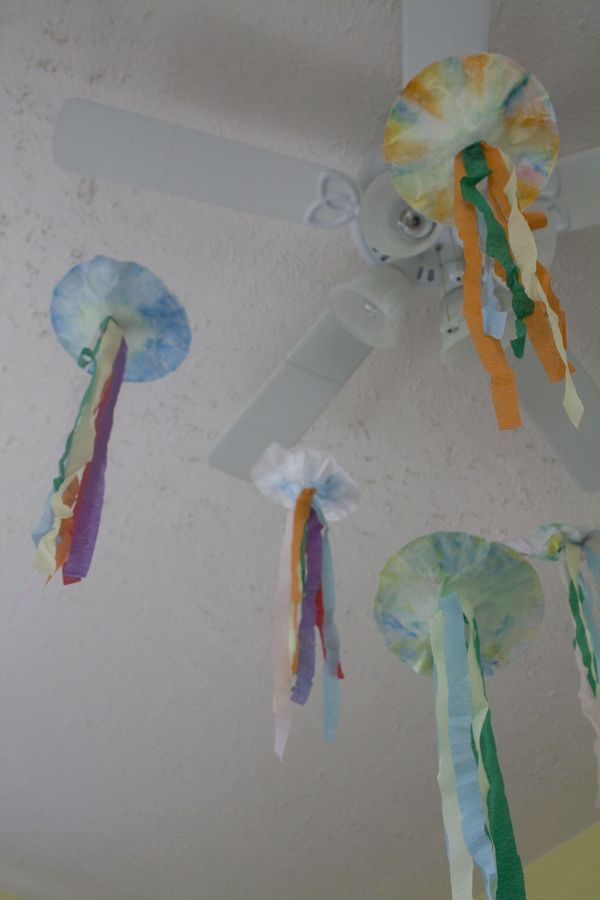 Make Your Own Simple Colorful Coffee Filter Jellyfish