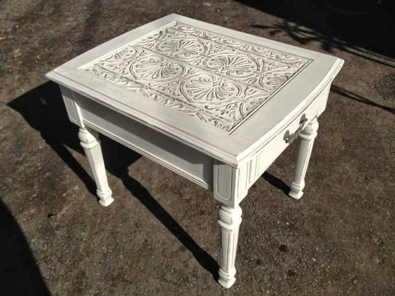 Treasured Rubbish Tin Ceiling Tile End Table