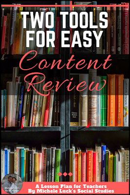 Effective end of the year or anytime content review ideas for the secondary social studies classroom. Teaching with these tools will make retention much easier for middle or high school students. Click to see the easy tools! #teaching