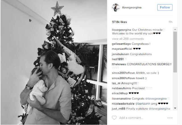 Georgina Wilson And Husband Arthur Burnand Celebrate Christmas With Their First Born Child!