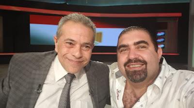 """Tawfik Okasha with Yasser Selim """"Photo: Selim's FB account"""""""