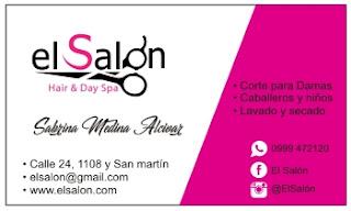 tarjetas de presentación para salón de belleza