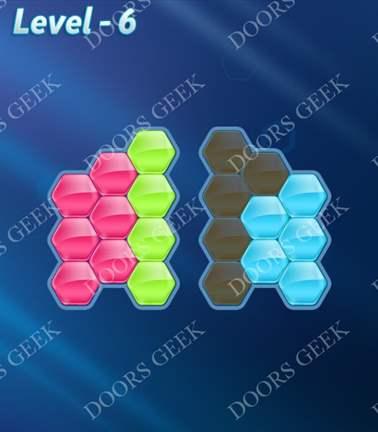 Block! Hexa Puzzle [Rainbow A] Level 6 Solution, Cheats, Walkthrough for android, iphone, ipad, ipod