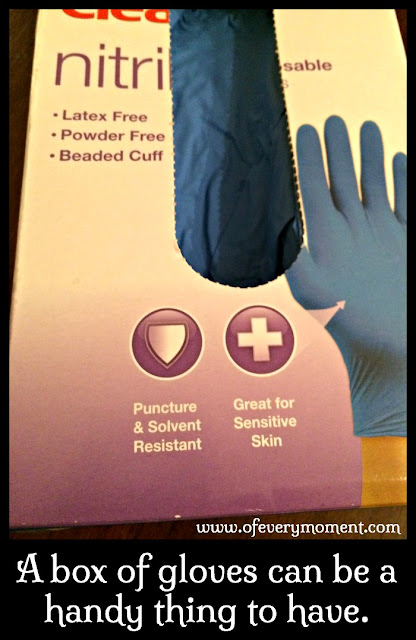 A box of latex free gloves.