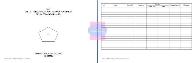 contoh format buku daftar penggunaan alat peraga pendidikan (untuk di sekolah/madrasah)