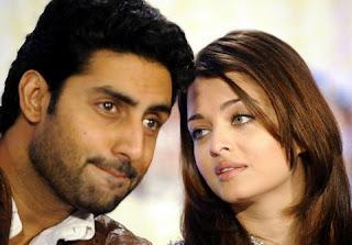 Abhishek Bachchan with Aishwarya Rai Bachchan
