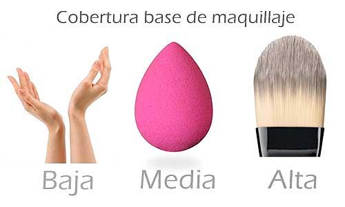 Cobertura base de maquillaje