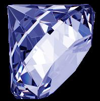 Diamante azul em png