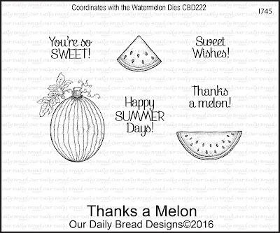 Our Daily Bread Designs Stamp Set: Thanks a Melon