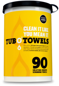 Free Sample of TUB O'TOWELS