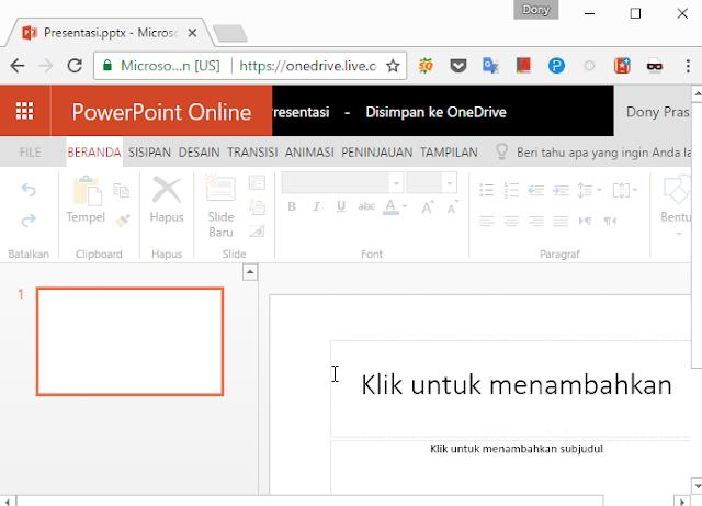 Jika sobat sering mengetik tugas sekolah atau sedang mengerjakan skripsi Office Online, Versi Web dari Microsoft Office