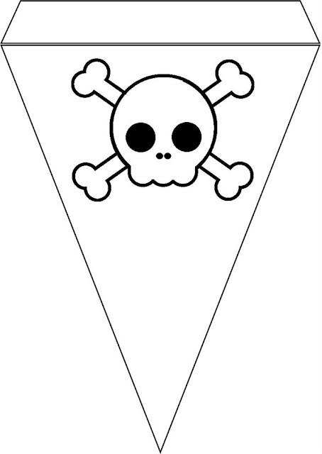 Banderines para Cumpleaños de Chico Pirata para imprimir gratis.