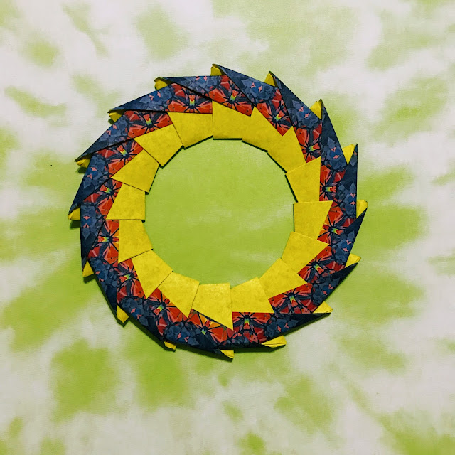 from origami rings and wreaths by tomoko fuse diagrams for ring 3 rh 207 246 81 240